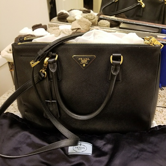 7bd409f21a Prada Bags | Galleria Saffiano Leather Black Bag | Poshmark